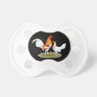 Old English Game Bantam:  Red Pyle Pacifier