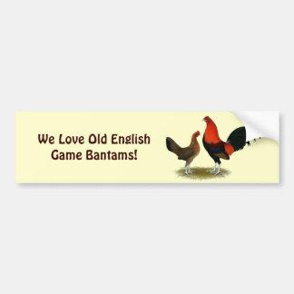 Old English Game Bantams:  BB Red Pair Bumper Sticker