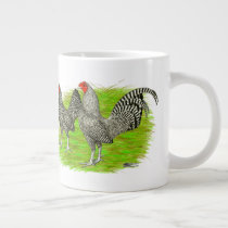 Old English Game Barred Chickens Giant Coffee Mug