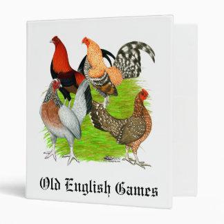 Old English Game Quartet Binder