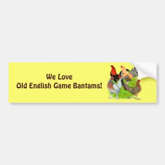 Old English Game Quartet Bumper Sticker