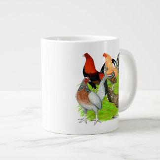 Old English Game Quartet Large Coffee Mug