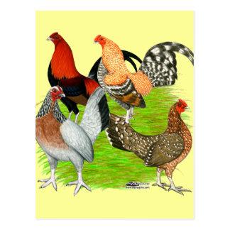 Old English Game Quartet Post Cards