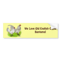 Old English Game Self Blue Bumper Sticker