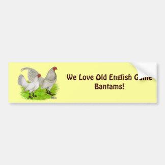 Old English Game Self Blue Bumper Sticker