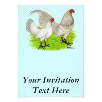 Old English Game Self Blue Invitation