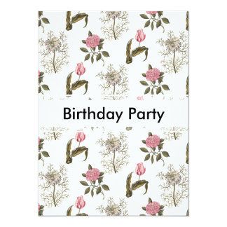 Old English Garden Floral Birthday Card