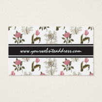Old English Garden Vintage Floral Pattern Business Card