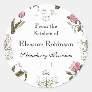 Old English Garden Vintage Floral Pattern Classic Round Sticker