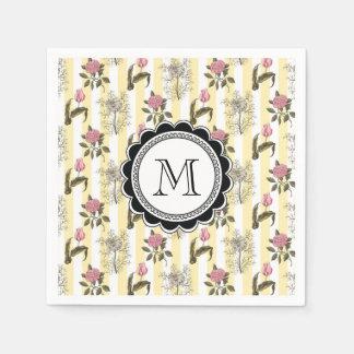 Old English Garden Vintage Floral Pattern Paper Napkin