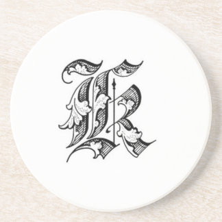 Old English Initial K Coaster