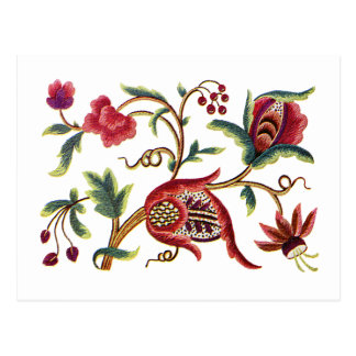 Old English Jacobean Embroidery Postcard