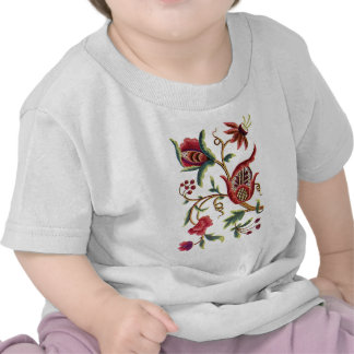 Old English Jacobean Embroidery T Shirts