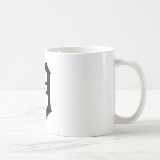 old english letter d coffee mug