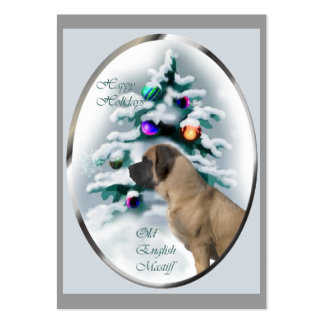 Old English Mastiff Christmas Gifts Business Card Template