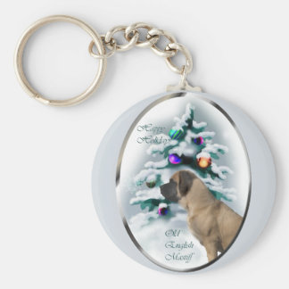 Old English Mastiff Christmas Gifts Keychain