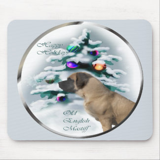 Old English Mastiff Christmas Gifts Mouse Pads