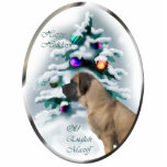 Old English Mastiff Christmas Gifts Ornament Photo Sculpture Ornament