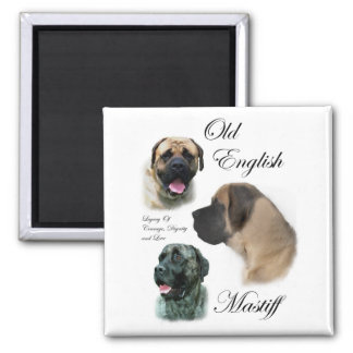 Old English Mastiff Gifts 2 Inch Square Magnet
