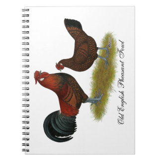 Old English Pheasant Fowl Spiral Notebook