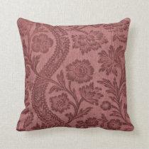 Old English Rose Pattern Pillow