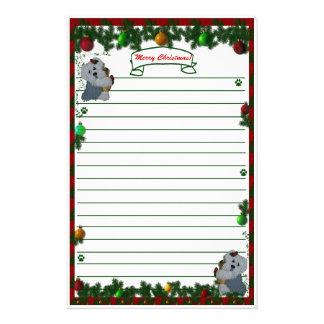 Old English Sheep dog Merry Christmas Stationary Custom Stationery
