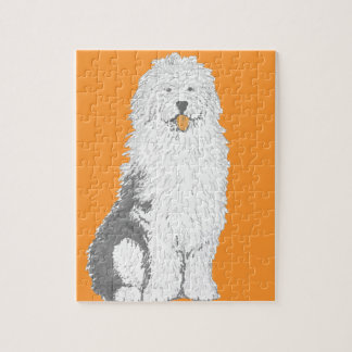 Old English Sheep Dog multiple products Jigsaw Puzzle