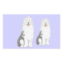 Old English Sheep Dog multiple products Rectangular Sticker