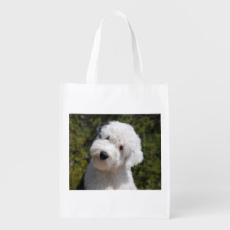Old_English_Sheep_Dog pup.png Grocery Bag