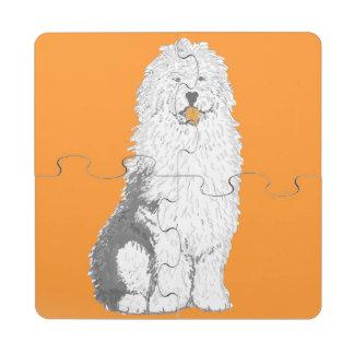 Old English Sheep Dog Puzzle Coasters