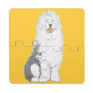 Old English Sheep Dog Puzzle Coasters Puzzle Coaster