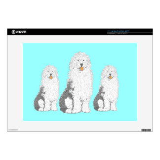 Old English Sheep Dogs Laptop Decals