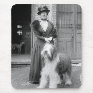 Old English Sheepdog, 1915 Mouse Pad