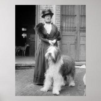 Old English Sheepdog, 1915 Poster