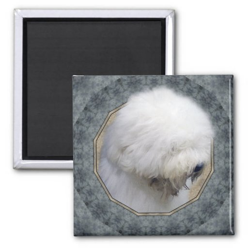 Old English Sheepdog 2 Inch Square Magnet