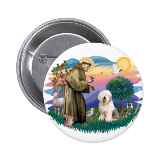 Old English Sheepdog (#6) 2 Inch Round Button