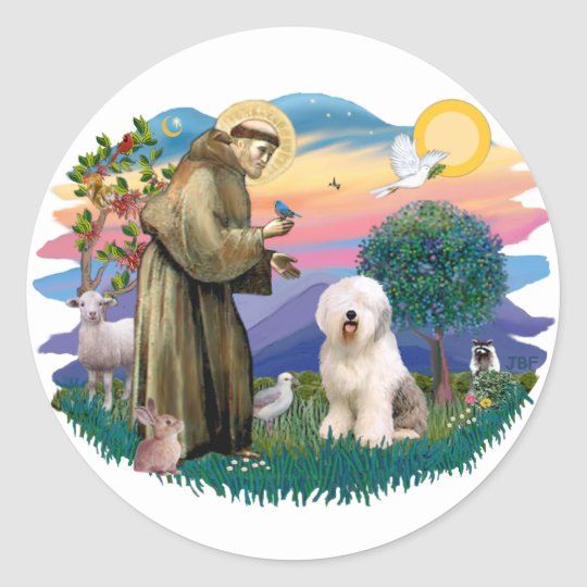 Old English Sheepdog (#6) Classic Round Sticker