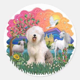 Old English Sheepdog #6 Classic Round Sticker