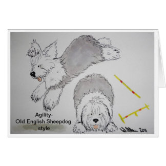 Old English Sheepdog -Agility Note cards