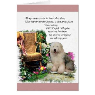 Old English Sheepdog Art Gifts Card