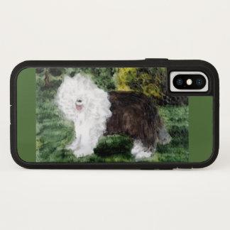 Old English Sheepdog Art iPhone X Case