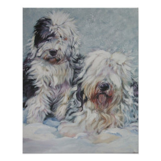 old english sheepdog art print