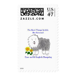 Old English Sheepdog Best Things In Life Postage