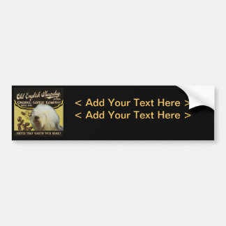 Old English Sheepdog Brand – Organic Coffee Compan Car Bumper Sticker