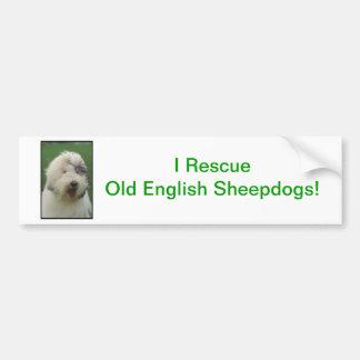 Old English Sheepdog Bumper Sticker