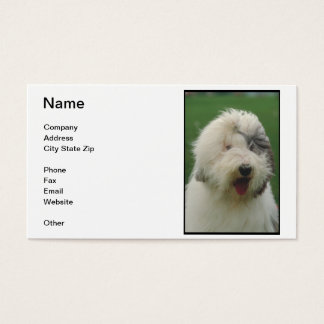 Old English Sheepdog Business Card