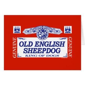 Old English Sheepdog Card