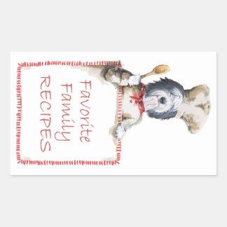 Old English Sheepdog Chef of Love Rectangular Sticker