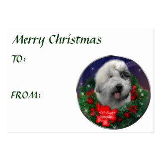 Old English Sheepdog Christmas Gifts Business Cards