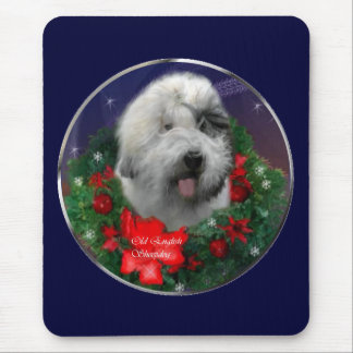 Old English Sheepdog Christmas Gifts Mouse Pad